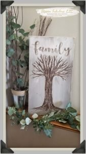 family handcarved tree